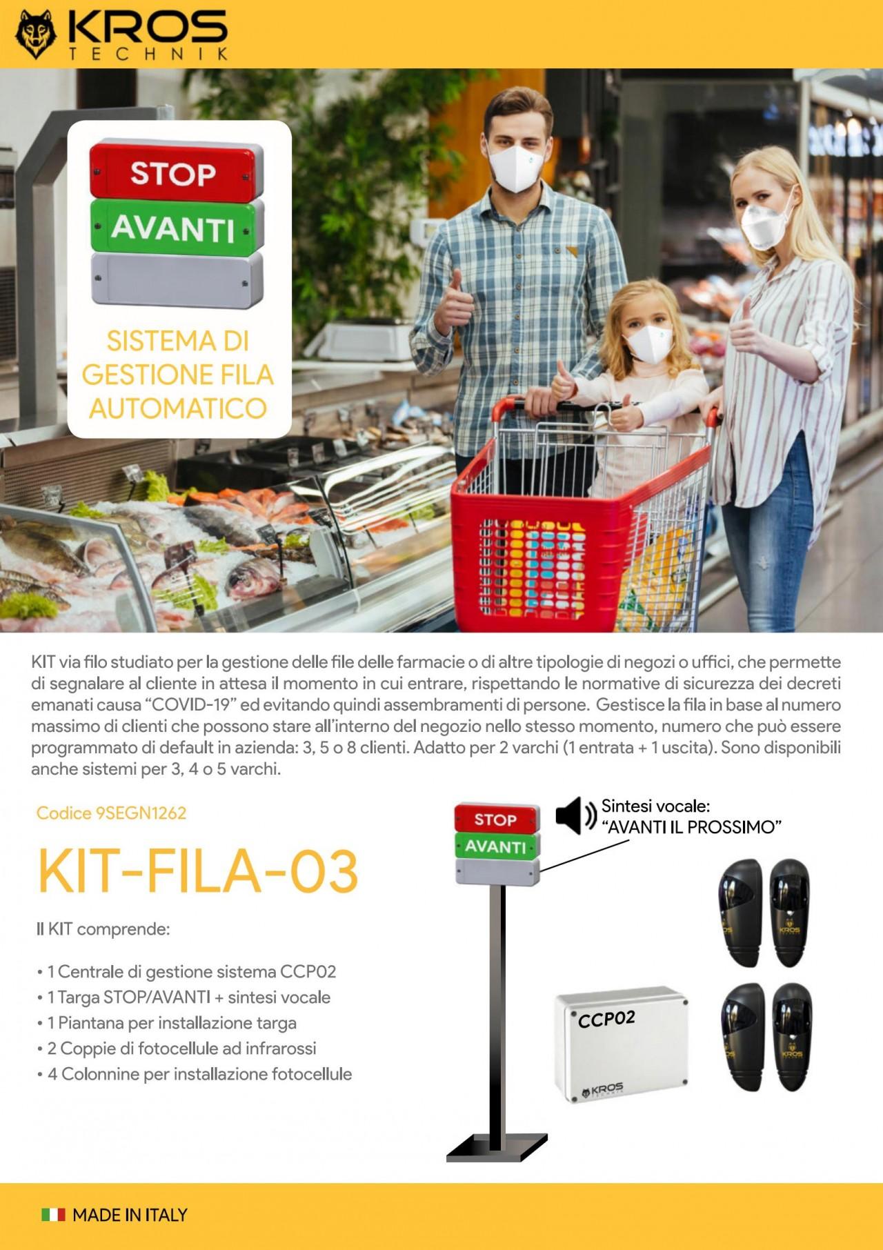 Gestione File - KROS   KIT-FILA-03