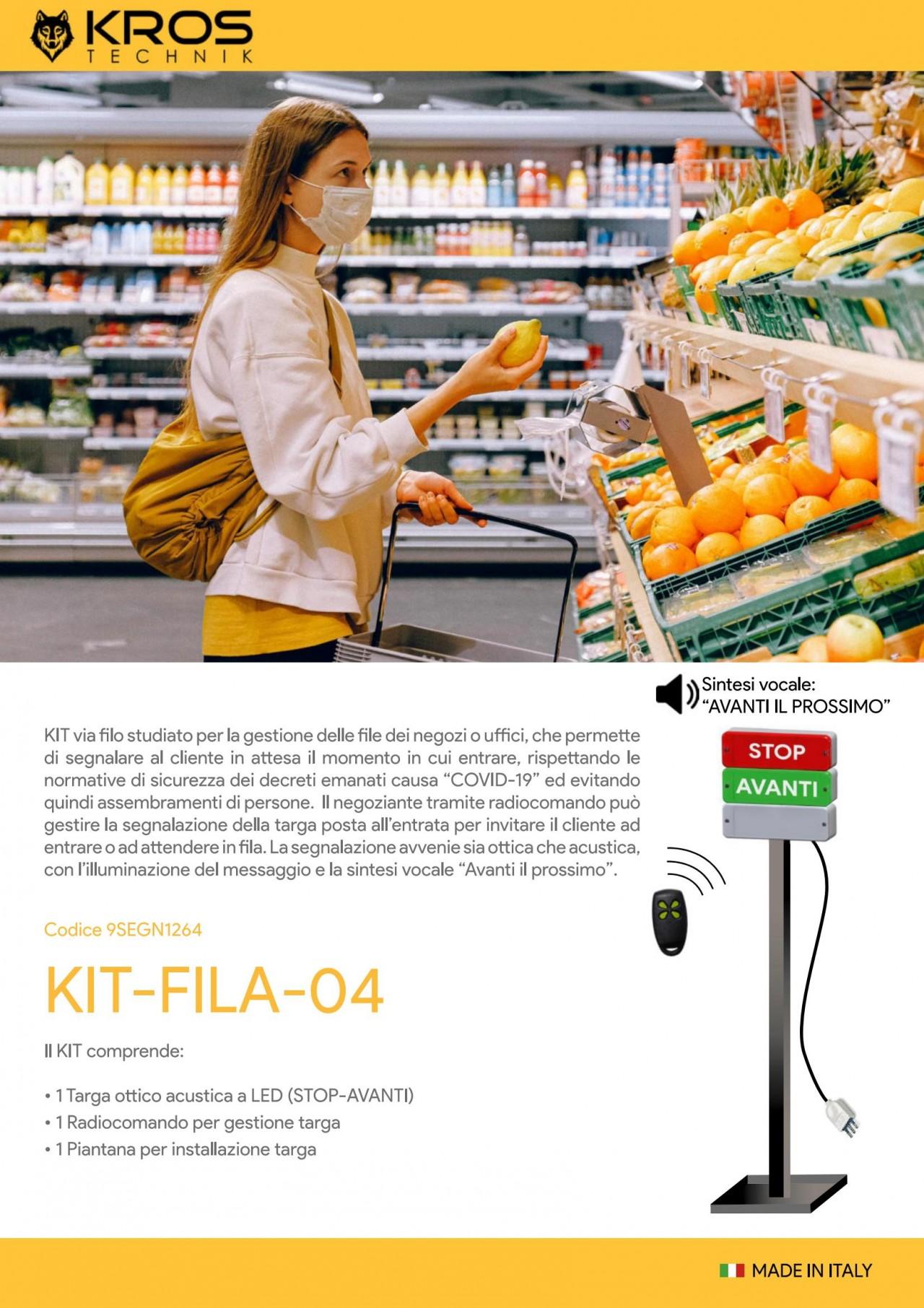 Gestione File - KROS   KIT-FILA-04